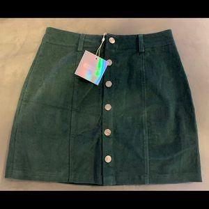 Missguided Mini Skirt Green 6 NWT